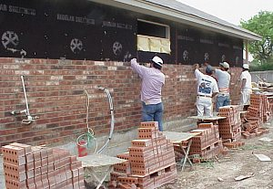 10. Exterior (Part 3) Brick - pictures of a custom home being ...