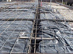 3c steel reinforcement in preparation for pouring the for Rcc home show